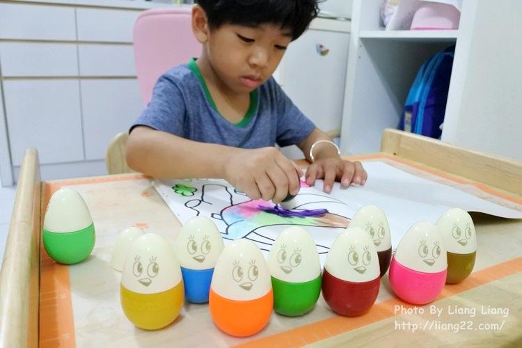 給孩子盡情揮灑快樂畫畫‧韓國Eggtok無毒水彩