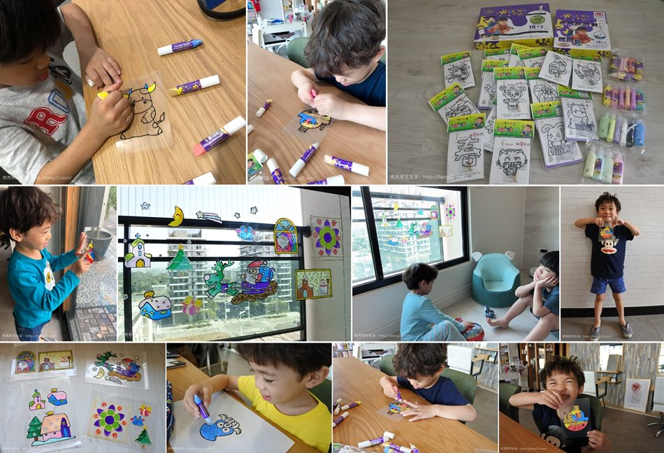 MIT兒童無毒彩繪玻璃貼~DIY動手做好好玩,孩子的行動貼紙(走到哪玩到哪)